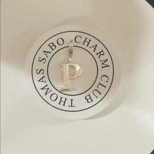 "Thomas Sabo letter ""P"" charm"